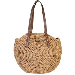 Sun N' Sand Natural Straw Sashia Circle Shoulder Handbag