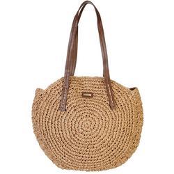 Natural Straw Sashia Circle Shoulder Handbag