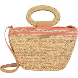 Sun N' Sand Natural Straw Crossbody Handbag