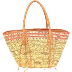 Sun N' Sand Natural Straw Tote Handbag
