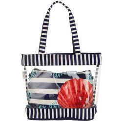 Sun N' Sand Striped Shore Beach Bag Tote