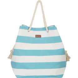 Sun N' Sand Horizontal Yellow Stripes Beach Bag Tote