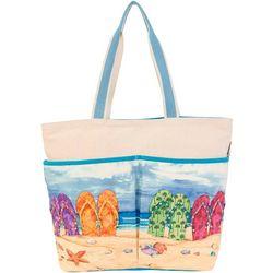Paul Brent Flip Flops Beach Bag Tote