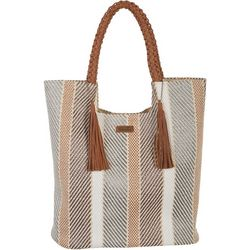 Sun N' Sand Vertical Stripes Tote Handbag