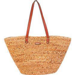 Sun N' Sand Nesi Natural Straw Tote Handbag