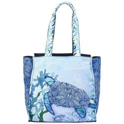 Sun N' Sand Sea Turtle Seaglass Oversized Tote Handbag
