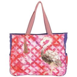 Paul Brent St. Croix Oversized Flamingo Beach Bag Tote