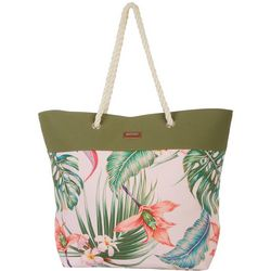 Tropical Floral Beach Bag Tote