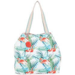 Caribbean Joe Flamingo Paradise Gap Beach Bag Tote