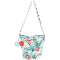 Caribbean Joe Flamingo Paradise Crossbody Handbag
