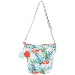 Caribbean Joe Flamingo Paradise Crossbody Handbag