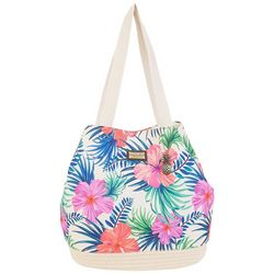 Caribbean Joe Hibiscus Beach Bag Gap Tote