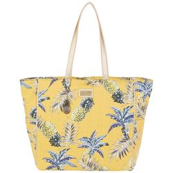 Caribbean Joe Kai Pineapple Double Handle Beach Bag Tote