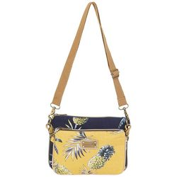 Caribbean Joe Lani Pineapple Crossbody Handbag