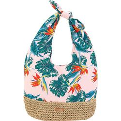 Tropical Print Shoulder Handbag