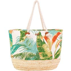 Tropical Print Tote Handbag