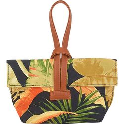 Tropical Leaves Wristlet