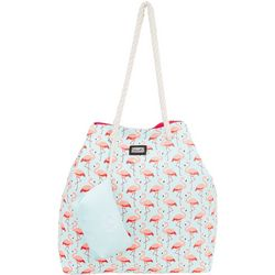 Caribbean Joe Pink Flamingo Beach Bag Gap Tote