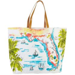 Paradise Shores Florida Map Beach Bag Tote