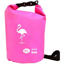 Nupouch 5L Flamingo Print Waterproof Dry Bag