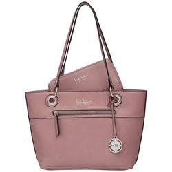 Nicole Miller New York Solid Olive Tote Handbag