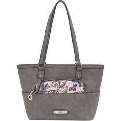 Nicole Miller New York Tamara Grey Tote Handbag
