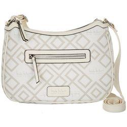 Nicole Miller New York Janelle Sign Print Crossbody Handbag