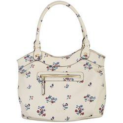 Nicole Miller New York Floral Print Jasmine Tote Handbag