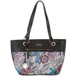 Nicole Miller New York Floral Print Margot Tote Handbag