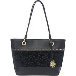 Nicole Miller New York Olive Floral Tote Handbag