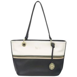 Nicole Miller New York Margot Zipper Detail Tote Handbag