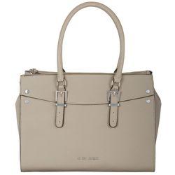 G by Guess Taupe Oak River Carryall Tote Handbag