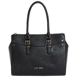G by Guess Black Oak River Carryall Tote Handbag