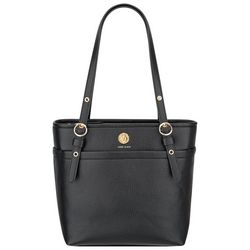 Anne Klein Solid Black Tote Handbag