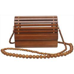 Urban Expressions Vera Wood Crossbody Handbag