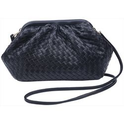 Urban Expressions Soft Woven Frame Pouch Crossbody Handbag