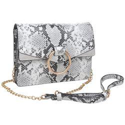 Urban Expressions Ella Snakeskin Crossbody Handbag