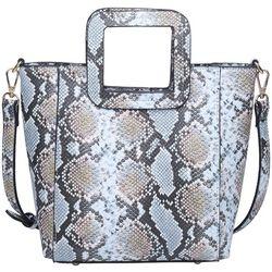 Urban Expressions Gertrude Snakeskin Crossbody Handbag