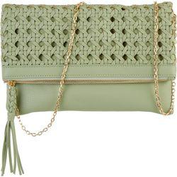 Moda Luxe Marisole  Woven Flap Clutch Crossbody Handbag