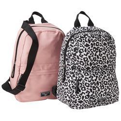 2-Pk. Solid & Cheetah Backpacks