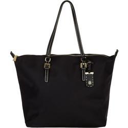 Julia Solid Nylon Tote Handbag