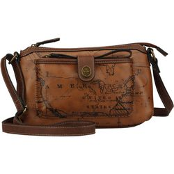 B.O.C. Voyage Map Crossbody Handbag