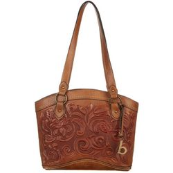 B.O.C. Botanica Saddle Embossed Tote Handbag