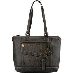 B.O.C. Amherst Ostrich Texture Tote Handbag