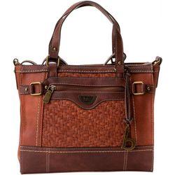 B.O.C. Woven Panel Tote Handbag