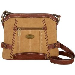 B.O.C. Oakley Two Tone Whipstitch Crossbody Handbag