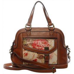B.O.C. Amherst Floral Satchel Handbag