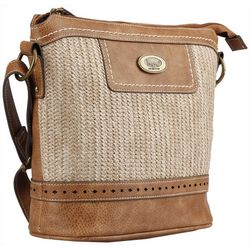 B.O.C. Callahan Saddle Straw Crossbody Handbag