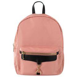 Olivia & Kate Solid Zippered  Backpack