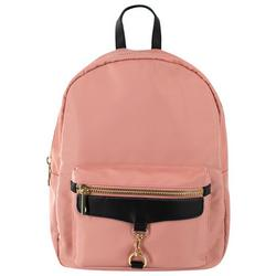 Solid Zippered  Backpack